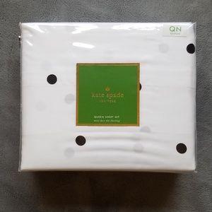 Kate Spade Deco Dot Queen Sheet Set